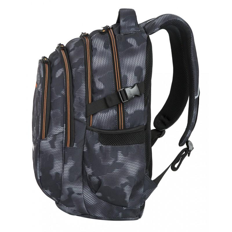 068c0dc2428dd ... Plecak młodzieżowy CoolPack CP FACTOR MISTY ORANGE - 4 przegrody -  szary plecak dla chłopaka + ...