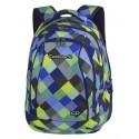 Plecak młodzieżowy CoolPack CP COMBO BLUE PATCHWORK w kolorową kratkę - 2w1 - plecak w niebieską kratkę, dla młodzieży