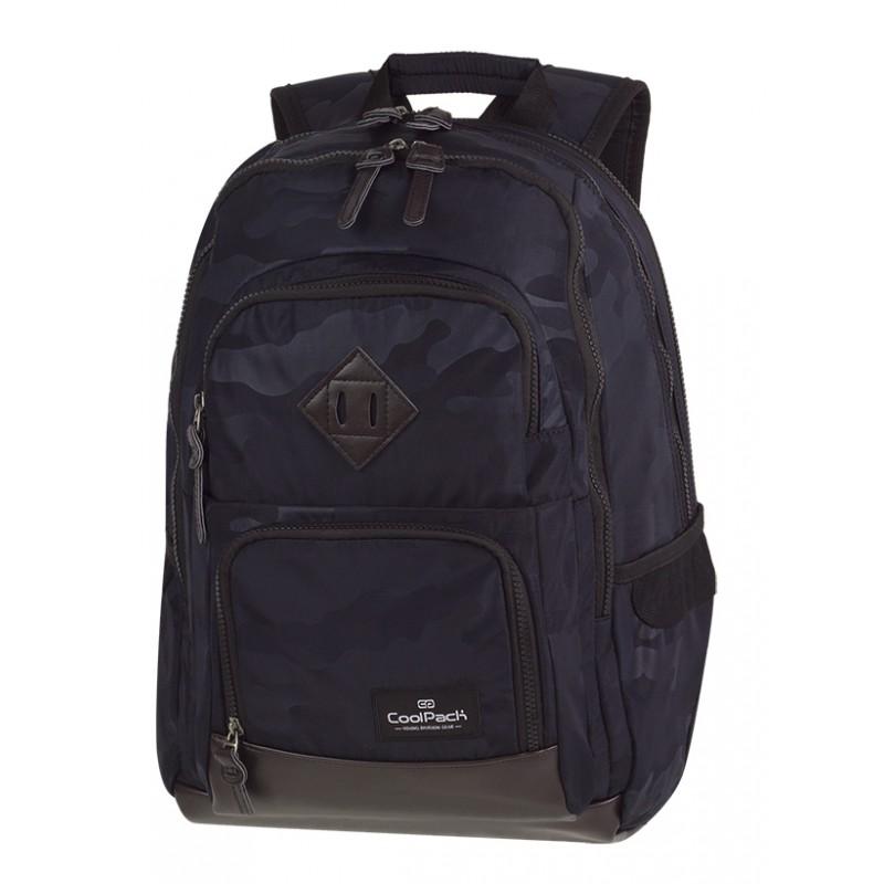 CoolPack CP UNIT CAMO BLACK czarne moro - plecak w ciemno szare moro z czarnymi plamami dla chłopka