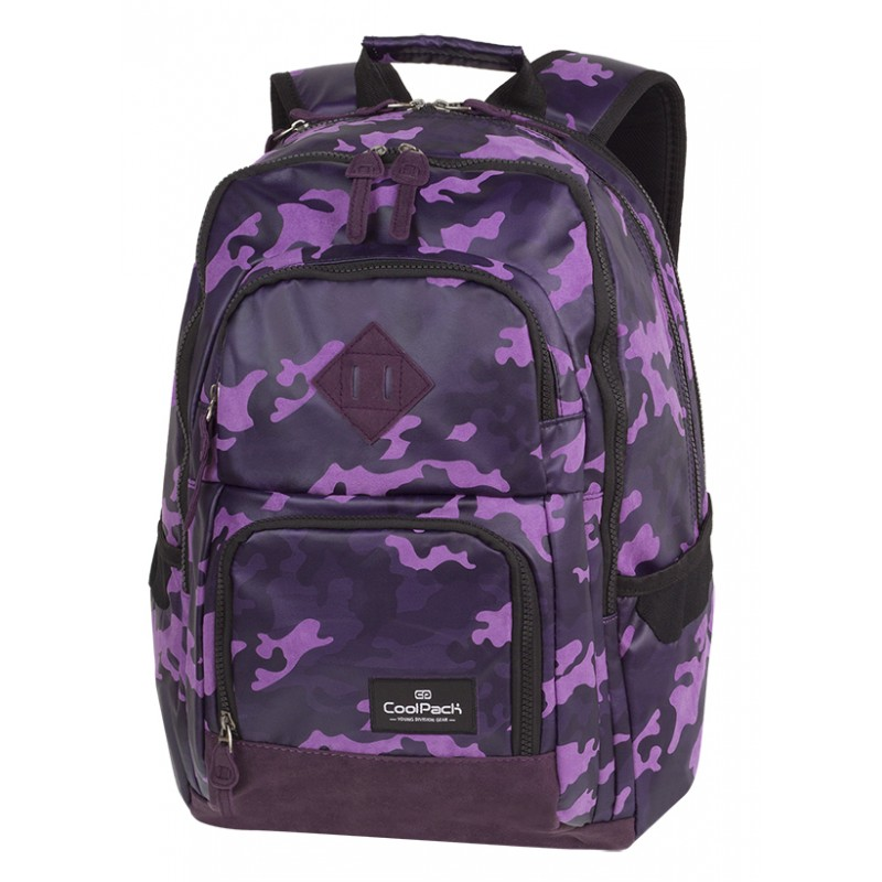 c01057be54699 Plecak młodzieżowy CoolPack CP UNIT FLOCK CAMO VIOLET fioletowe moro - A554
