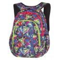 Plecak do klas 1-3 CoolPack CP PRIME GEOMETRIC SHAPES kolorowe figury dla chłopca - plecak z kolorowymi zamkami do 1, 2 , 3