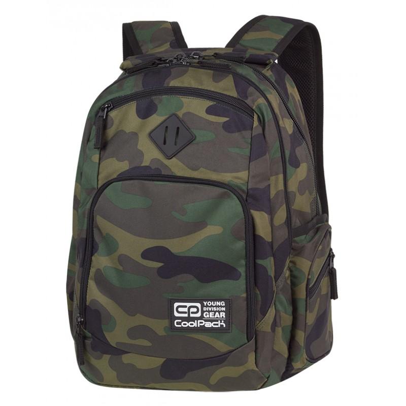 d2910c0e2fbb2 COOLPACK CP BREAK CAMOUFLAGE CLASSIC klasyczne moro dla chłopaka - duży  plecak do szkoły w stylu