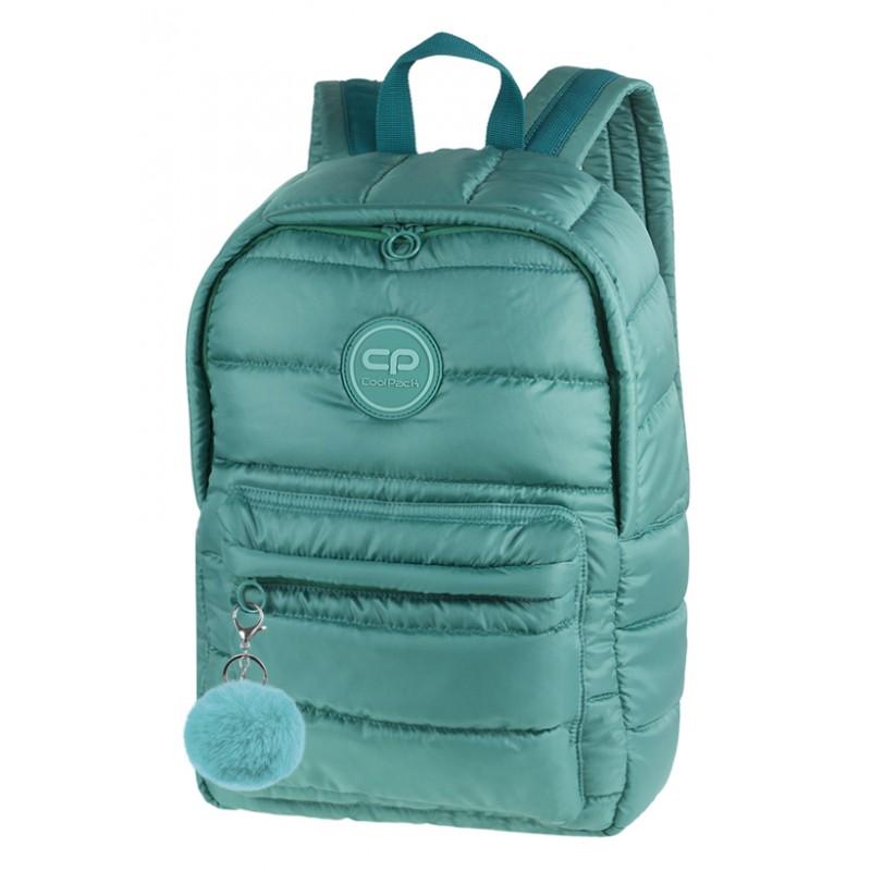 cec7d773571d04 Plecak miejski CoolPack CP RUBY GREEN pikowany zielony A105 + GRATIS puszek  pompon, plecak jak
