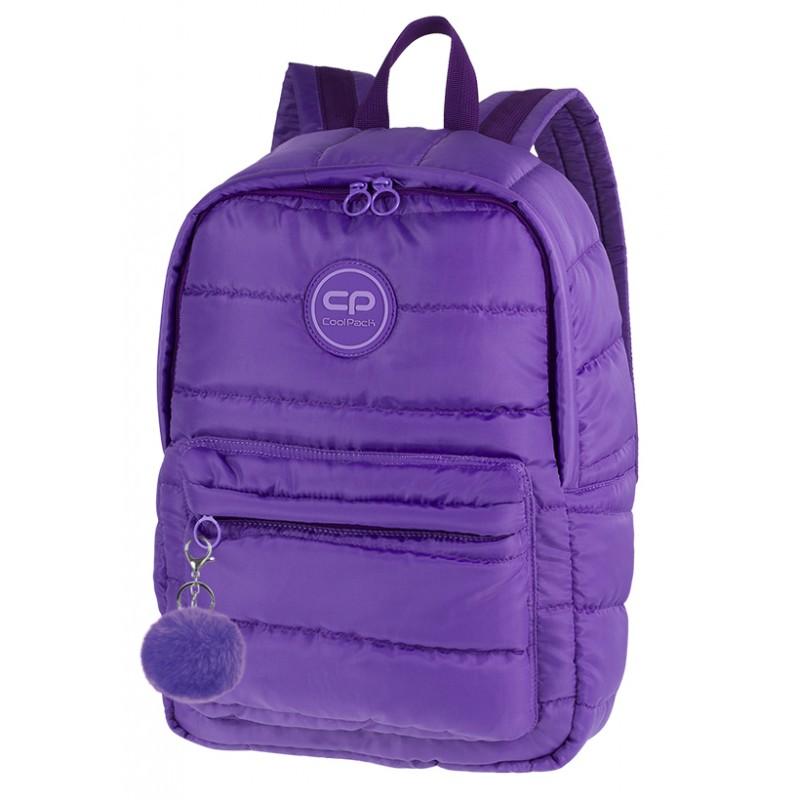 e611515d3984de Plecak miejski CoolPack CP RUBY VIOLET pikowany fioletowy A111 + GRATIS  zawieszka puszek pompon, plecak
