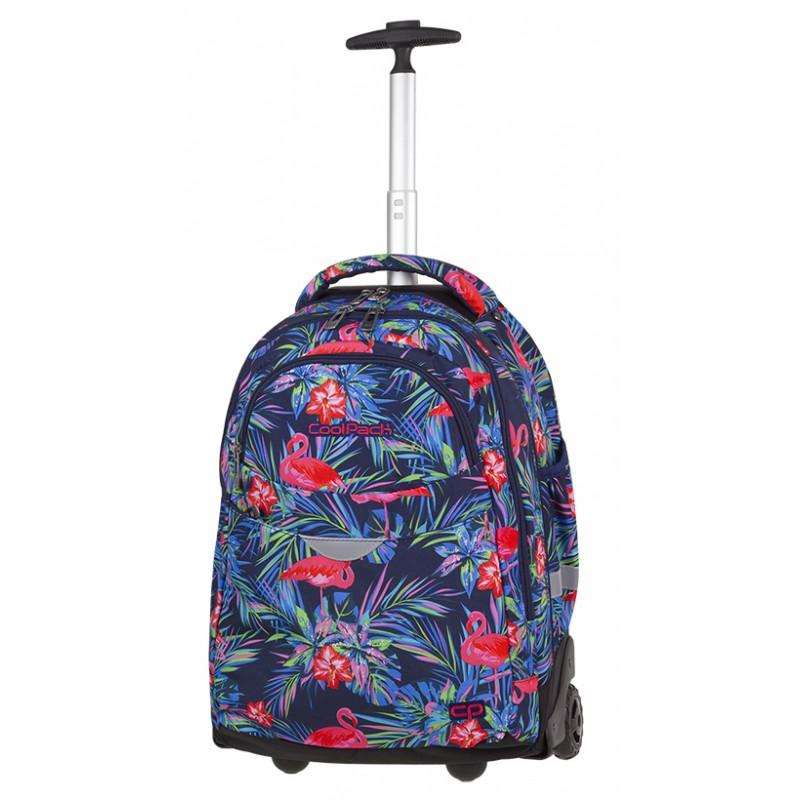 6cacc65725809 Plecak na kółkach w flamingi dla dziewczyny CoolPack CP RAPID PINK FLAMINGO  A480 w różowe flamingi
