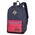 Plecak miejski CoolPack CP GRASP NAVY BLUE DOTS kropki, granatowy, czerwona kieszeń, dla dziewczyny