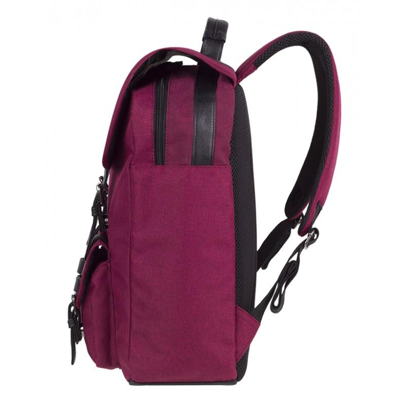 2037db2ecaaaa ... Plecak miejski CoolPack CP TRAFFIC BURGUNDY wiśniowy vintage na laptop  - plecak miejski dla dziewczny, ...