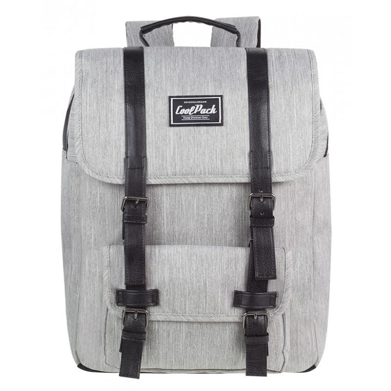 8ee7428bd26b4 Plecak miejski CoolPack CP TRAFFIC GREY szary vintage na laptop - dla  dziewczyn i chłopaka do