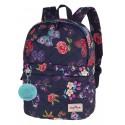 Plecak wycieczkowy CoolPack CP FANNY SUMMER DREAM pikowany w motyle A103 + GRATIS pompon puszek, plecak jak kurtka dla dziewczyn