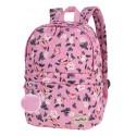 Plecak wycieczkowy CoolPack CP FANNY PINK ROSE GARDEN pikowany różowy w kwiaty A102 + GRATIS puszek, maksymalnie różowy plecak