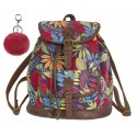 Plecak vintage CoolPack CP FIESTA AUTUMN LEAVES jesienne liście A135 + GRATIS pompon, plecak dla nastolatki w jesienne liście