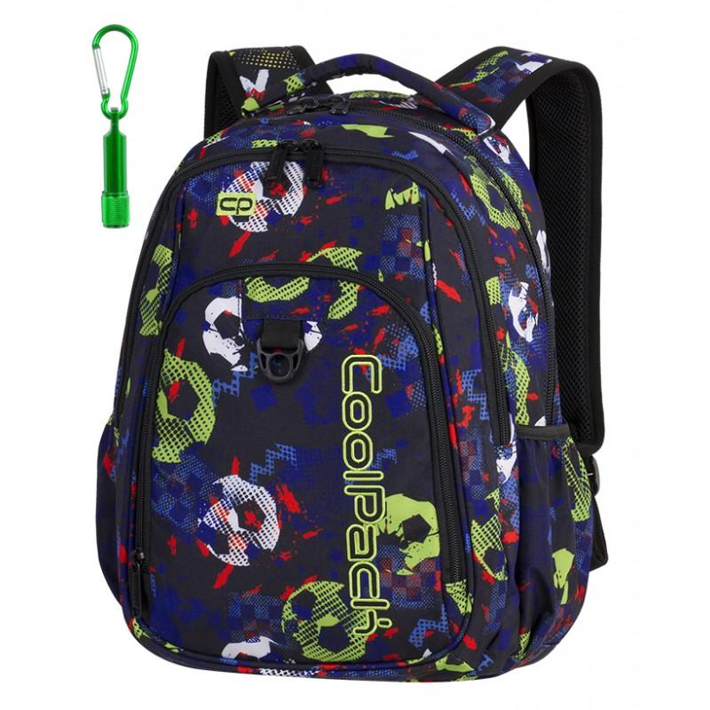 3684bdaf4ce56 Plecak młodzieżowy CoolPack CP STRIKE FOOTBALL piłki A187 + GRATIS latarka