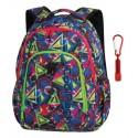 Plecak młodzieżowy CoolPack CP STRIKE GEOMETRIC SHAPES trójkąty A201+ GRATIS latarka, plecak szkolny dla chłopca