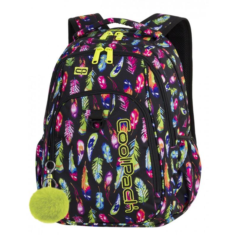 95d83e6207a98 Plecak młodzieżowy CoolPack CP STRIKE FEATHERS pióra A232 + GRATIS pompon  puszek zawieszka