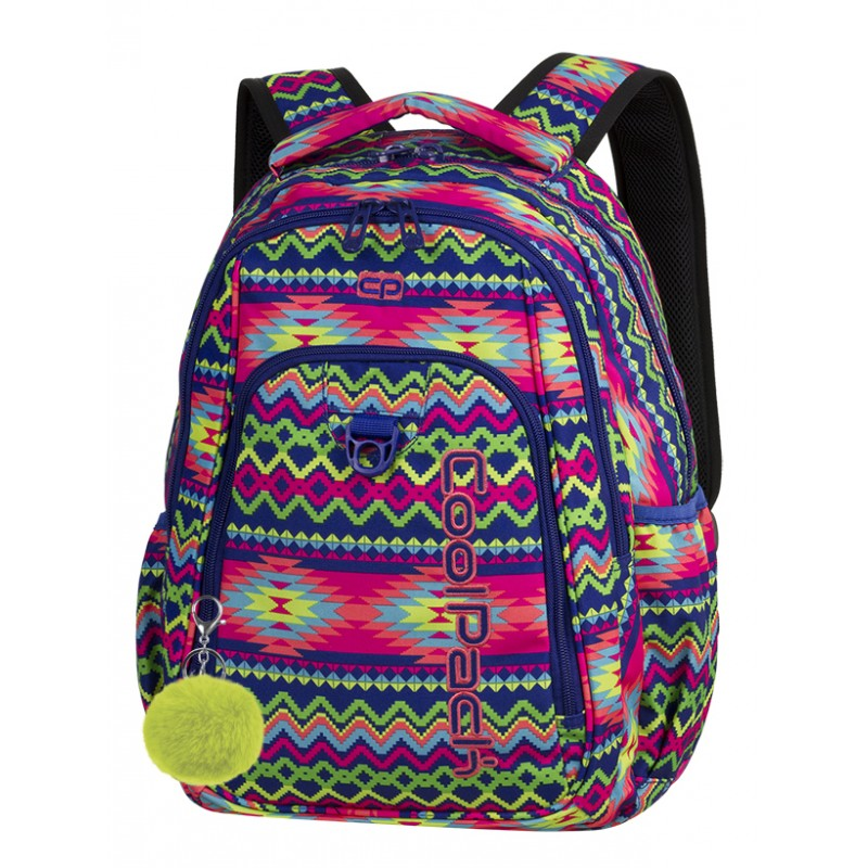 b1bde3122db42 Plecak młodzieżowy CoolPack CP STRIKE BOHO ELECTRA neon boho + GRATIS pompon.  Elektryczny plecak dla