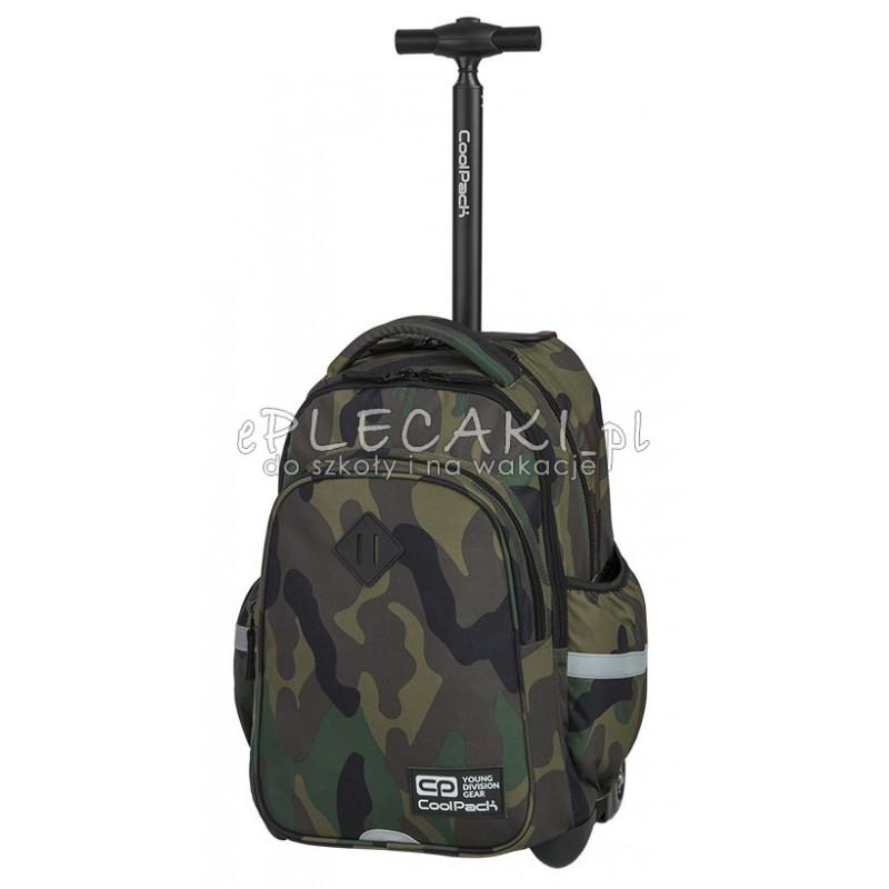 Plecak na kółkach CoolPack CP JUNIOR CAMOUFLAGE CLASSIC klasyczne moro - plecak moro dla dziecka, plecak moro do szkoły