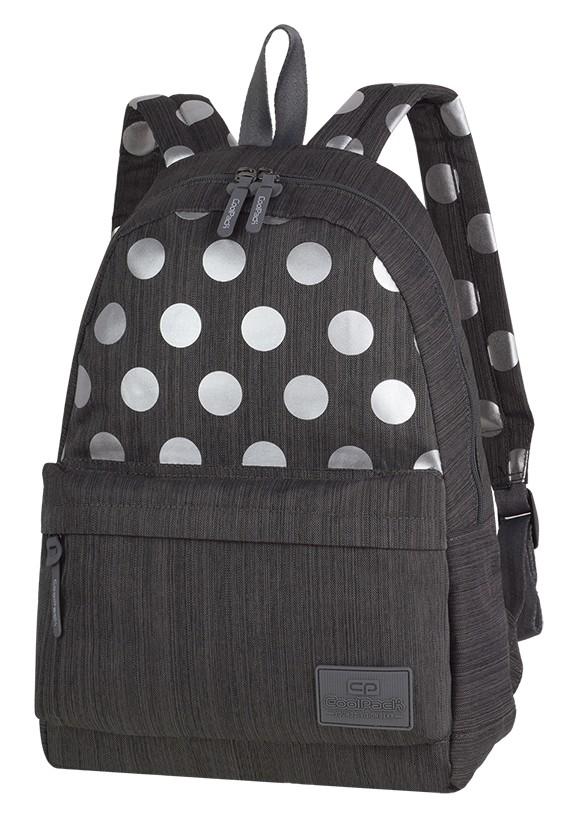 99e2d6364ca4a Plecak CoolPack Street Silver Dots Grey szary w kulki dla dziewczyn