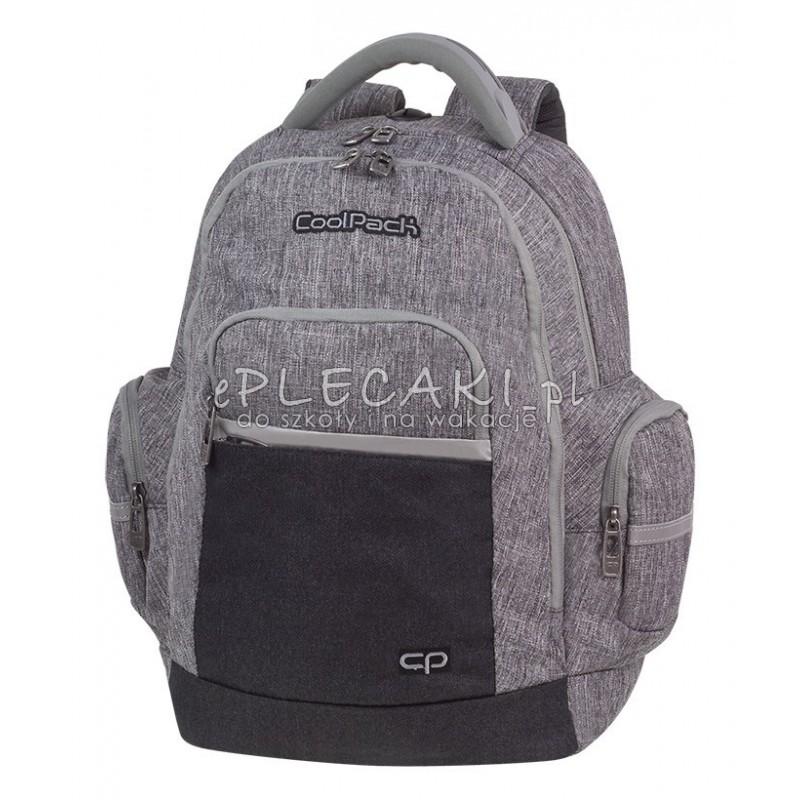 a95a64dd3543e Plecak młodzieżowy CoolPack CP BRICK COLOR FUSION GRAY szary melanż - fajny  plecak dla chłopaka