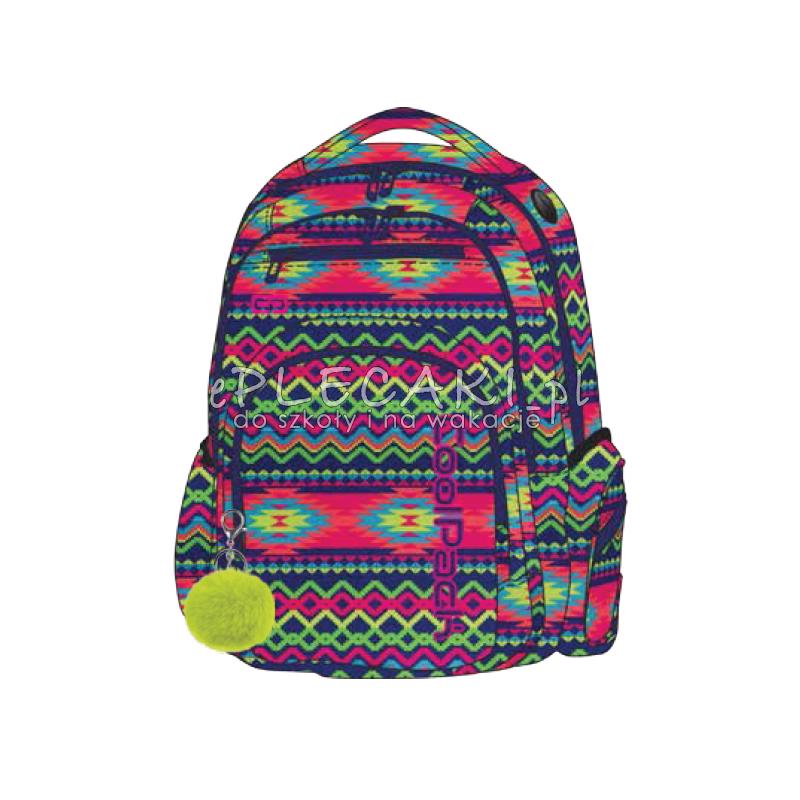 f81a6e45fd507 Plecak młodzieżowy CoolPack CP FLASH BOHO ELECTRA elektryczny dla dziewczyn  + POMPON
