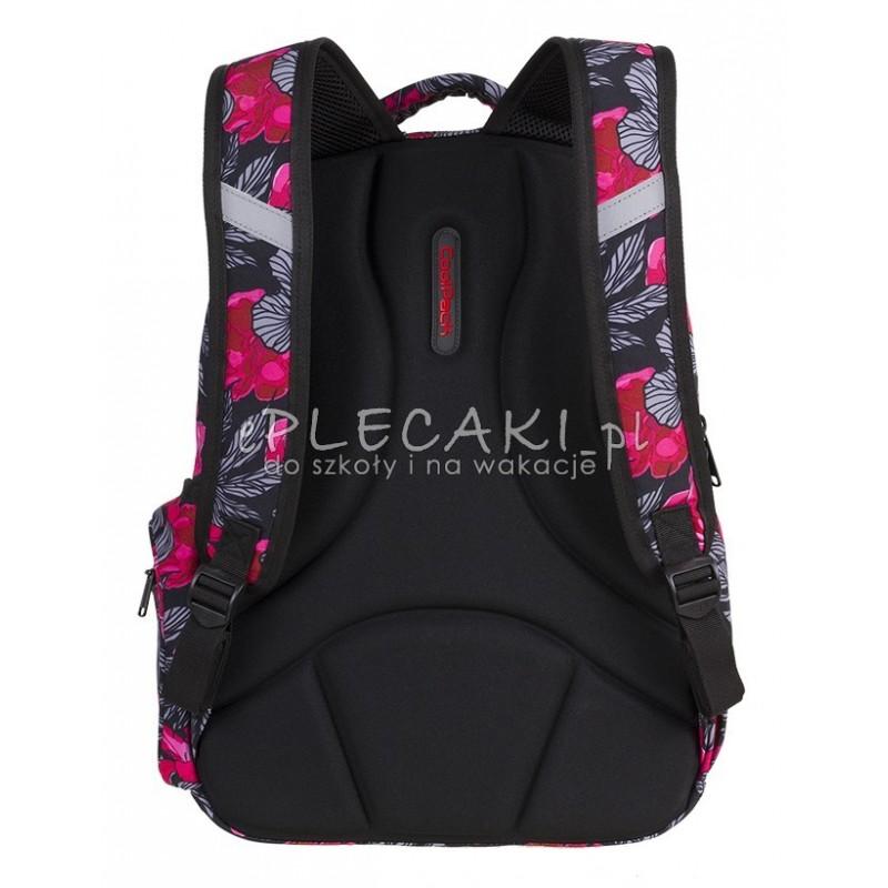 8d8102b3715c1 ... Plecak młodzieżowy CoolPack CP FLASH RED AND BLACK FLOWERS hiszpańskie  kwiaty A240 + POMPON - plecak ...
