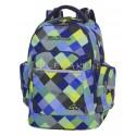 Plecak młodzieżowy CoolPack CP BRICK BLUE PATCHWORK w kratkę, modny plecak dla chłopaka, fajny plecak dla chłopaka