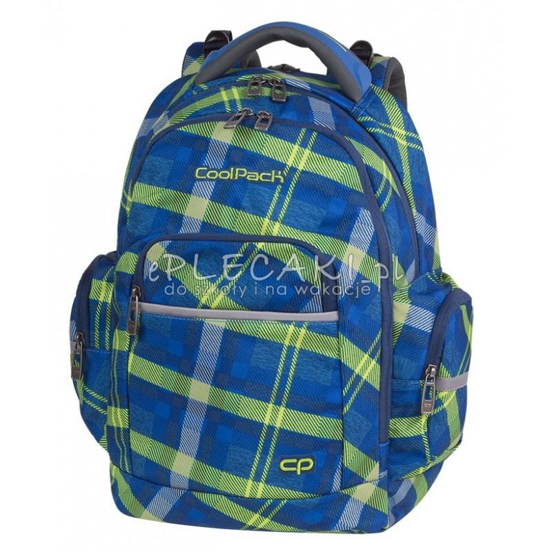 daf90793cc461 Plecak szkolny CoolPack Brick Springfield zielona krata dla chłopaka