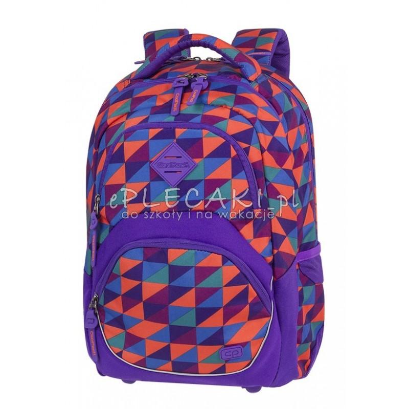 5006c12f7c5d9 Plecak młodzieżowy ergo CoolPack CP VIPER TRIANGLE MOSAIC kolorowe trójkąty  - modny plecak dla chłopaka