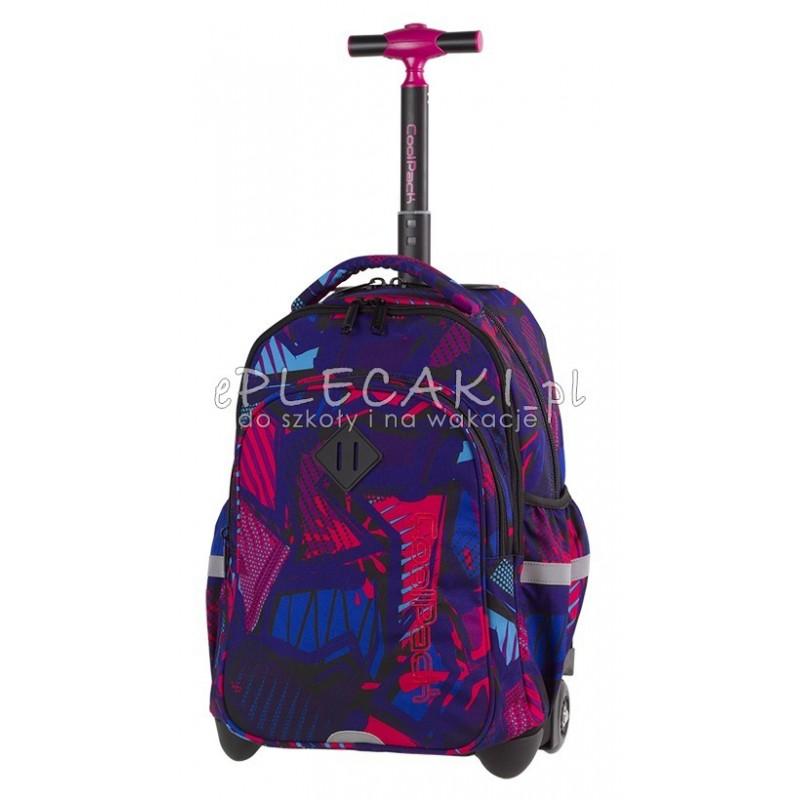 Plecak na kółkach CoolPack CP JUNIOR CRAZY PINK ABSTRACT różowa abstrakcja - A288 abstrakcyjny plecak na kółkach dla młodzieży