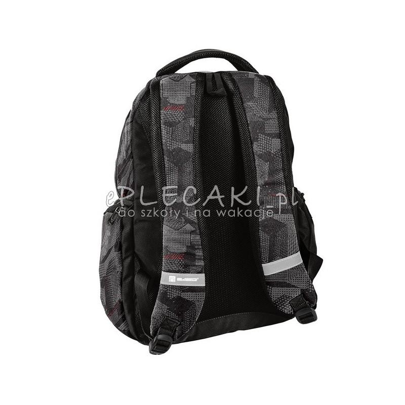 50bf98534fb73 Szary plecak szkolny dla chłopaka z miastem Paso Unique