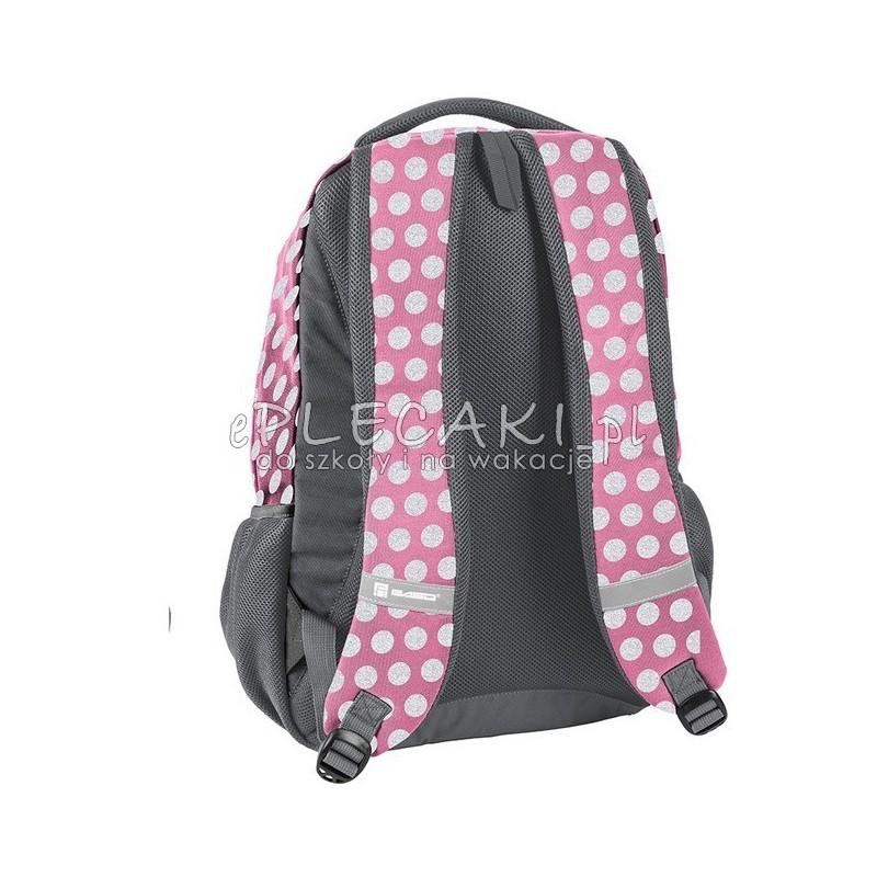 1fa6aa67428d6 ... Plecak w kropki różowy i szary do szkoły Paso Unique