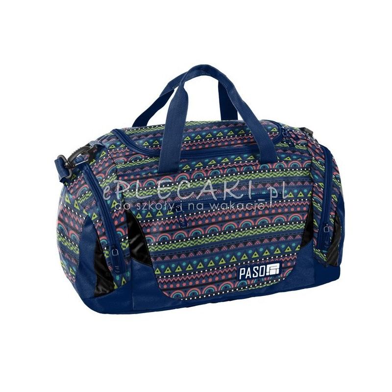 bfb9bb0a439bf Aztecka torba sportowa kolorowa na trening dla dziewczyny Paso