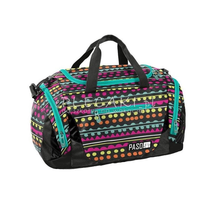 3895730c0cd8d Kolorowa torba fitness dla dziewczyny z zielonymi zamkami na trening na  taniec Paso