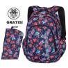 Plecak do klas 1-3 CoolPack CP PRIME TROPICAL BLUISH kwiecista łąką dla dziewczynki - A223 + GRATIS