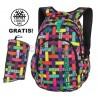 Plecak do klas 1-3 CoolPack CP w kropki PRIME RIBBON GRID kolorowe wstążki dla dziewczynki - A297 + GRATIS