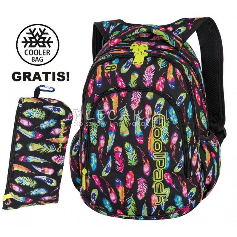 Plecak do klas 1 3 CoolPack CP PRIME FEATHERS w piórka dla dziewczynki A233 + GRATIS