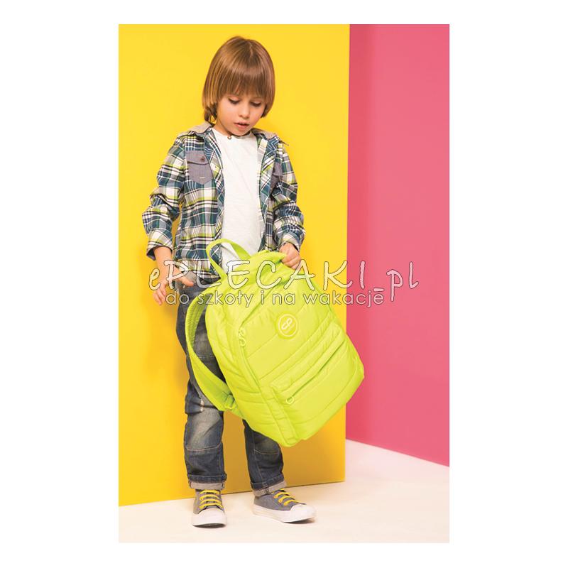 c07803a259022d ... GRATIS pompon zawieszka puszek, neonowy; Plecak miejski CoolPack CP RUBY  LEMON pikowany limonkowy, neonowy plecak, plecak puszek, plecak