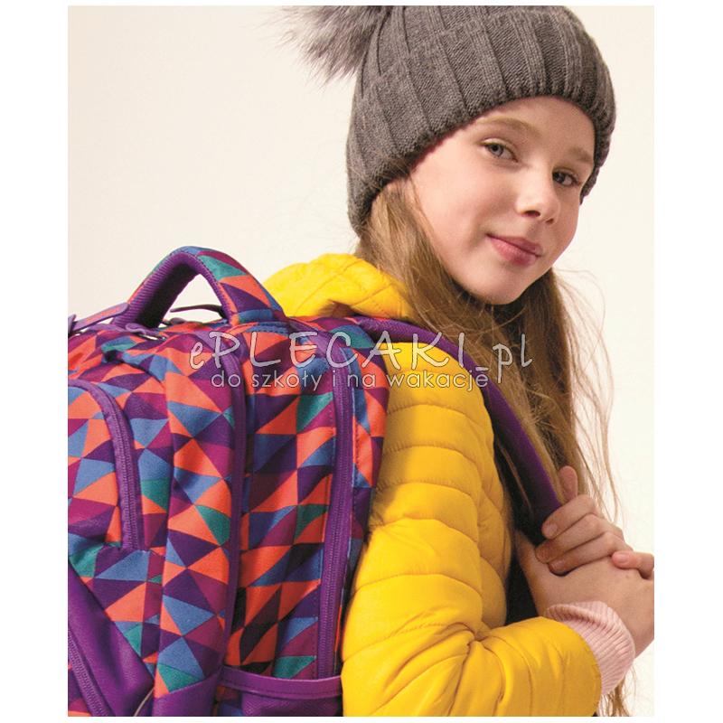 dc17724c82b33 ... młodzieżowy ergo CoolPack CP VIPER TRIANGLE MOSAIC kolorowe trójkąty -  modny plecak dla chłopaka