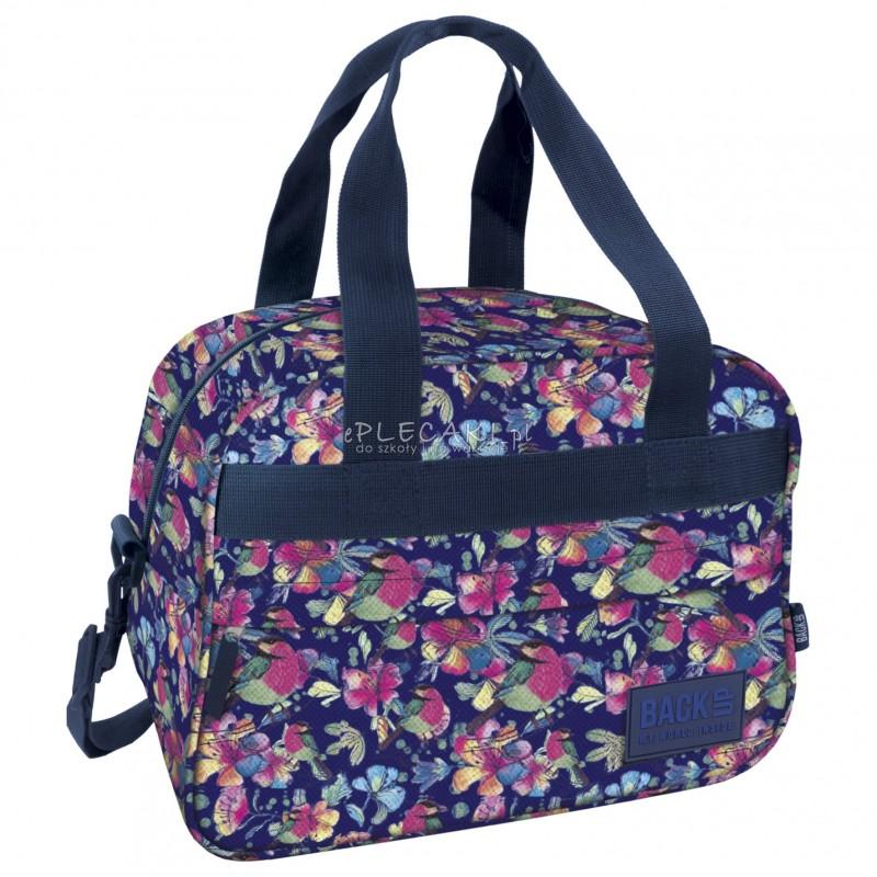 951d52beb846c Torba podróżna fitness na basen BackUP A 4 kwiatki akwarela - torba  sportowa dla dziewczyny