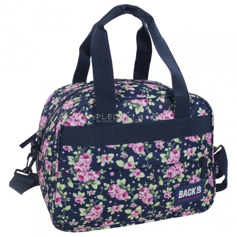 bd88e087c7c45 Torba podróżna fitness na basen BackUP A 13 różyczki - torba sportowa dla  dziewczyny