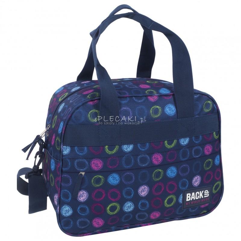 6181d03f5b8cd Torba podróżna fitness na basen BackUP A 18 kolorowe kółka - torba sportowa  dla dziewczyny