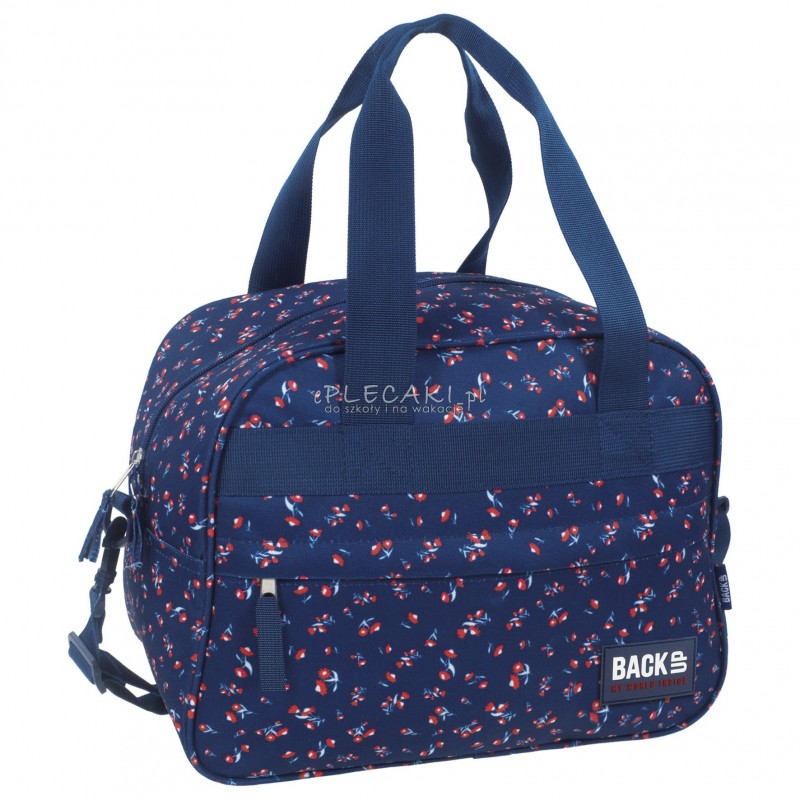 f7d60843b7048 Torba podróżna fitness na basen BackUP A 26 kwiatuszki - torba sportowa dla  dziewczyn