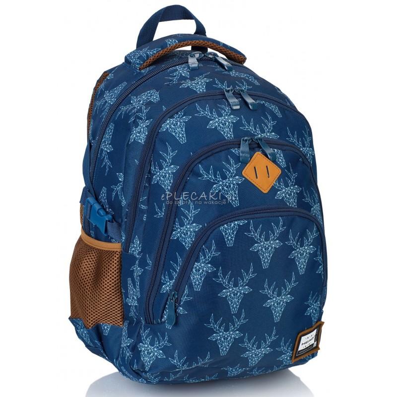 Plecak młodzieżowy HEAD jelenie HD-101 A - plecak jelenie, najmodniejszy plecak dla dziewczyn, najmodniejszy plecak dla chłopaka