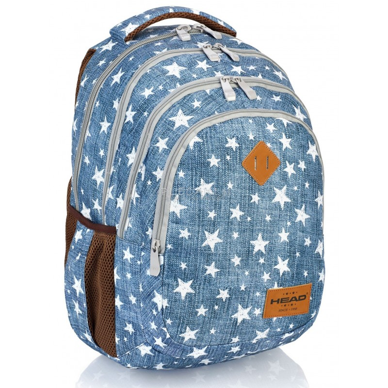 ba96b2c3e3a8a Plecak młodzieżowy HEAD jeans w gwiazdki HD-109 C plecak jeans dla  dziewczyny, plecak