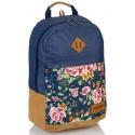 Plecak młodzieżowy HEAD róże jeans HD-45 G modny plecak dla dziewczyny, plecak róże z jeansem, plecak rustykalny, plecak boho