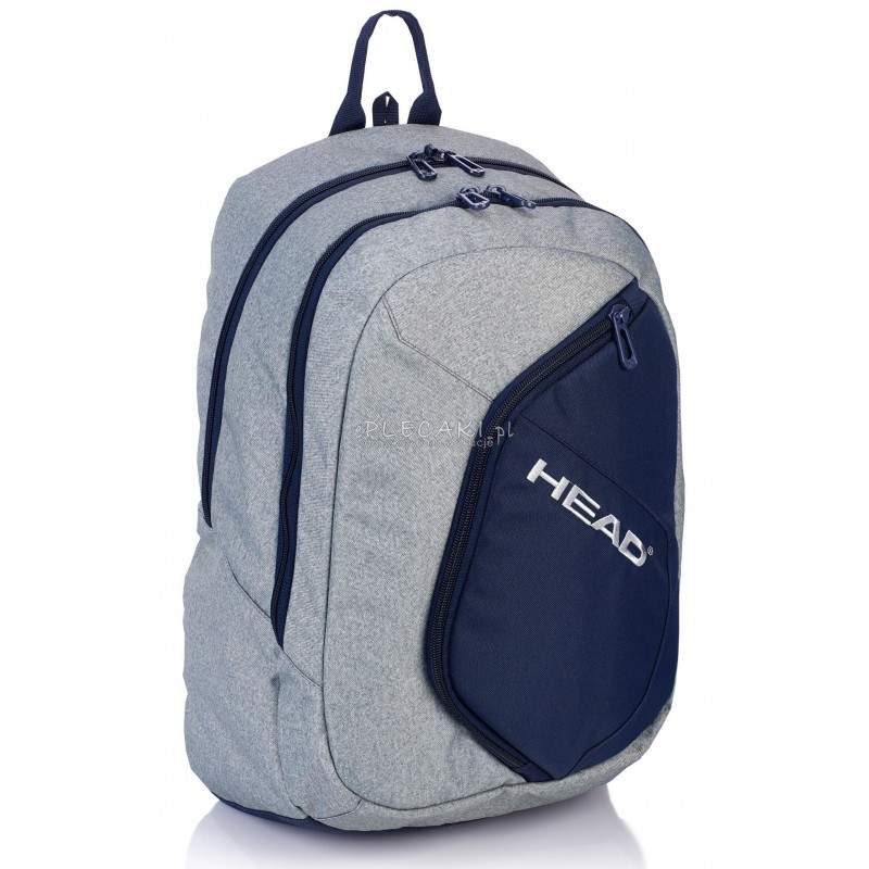 5534b78d8c4d8 Plecak sportowy Head szary dla chłopaka HD-65 młodzieżowy model I