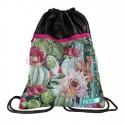 Worek z kwiatami kaktusa zieloy i różowy do szkoły plecak na sznurkach Paso
