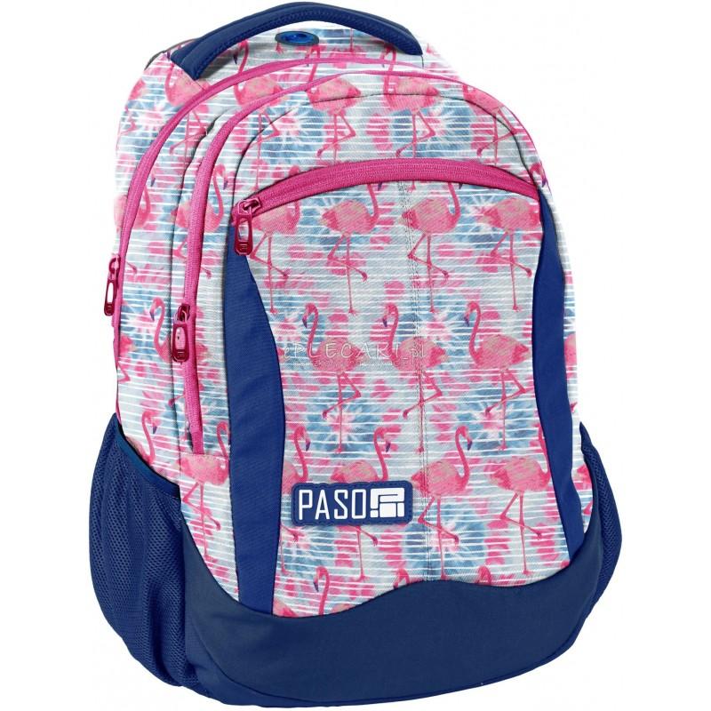 756ed8a3a7604 Plecak we flamingi do szkoły dla dziewczynki Paso Unique do klas 1-3