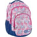 Plecak z flamingami niebieski i różowy dla dziewczyny do szkoły Paso