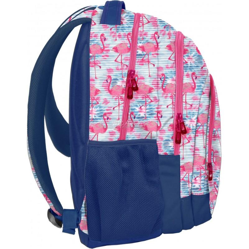 e2adc72e42e45 ... Plecak z flamingami niebieski i różowy dla dziewczyny do szkoły Paso