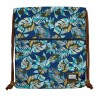 Worek na buty / plecak na sznurkach HEAD niebieska dżungla HD-138